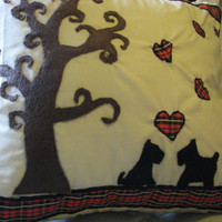 Scottie Dog Love Pillow