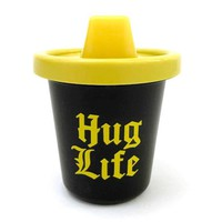 Hug Life Sippy Cup in Black and Yellow