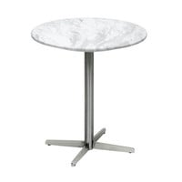 Yaeger White Marble Modern End Table