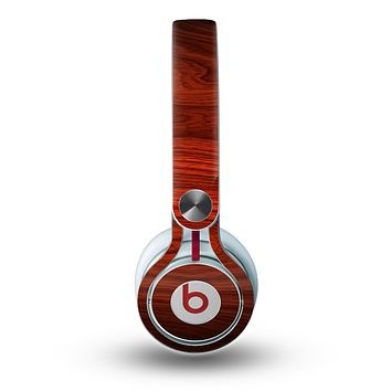 The Rich Red Wood grain Skin for the Beats by Dre Mixr Headphones