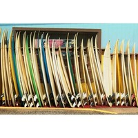 Surfboard Stack Wall Mural
