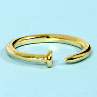 Nailed It Gold Knuckle Ring