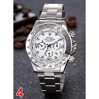 Rolex Classic Popular Women Men Personality Diamond Movement Wristwatch Business Watch