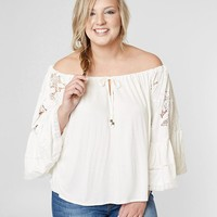 Taylor & Sage Off The Shoulder Top - Plus Size - Women's Shirts/Blouses in Cloud White | Buckle
