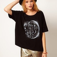ASOS T-Shirt with 'To The Moon and Back' Print at asos.com