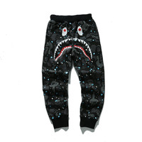 BAPE Space Camo Shark Sweatpants