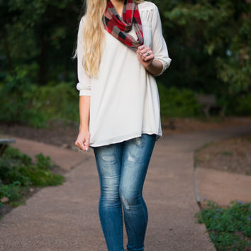 By A String Blouse, Ivory