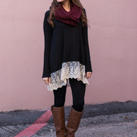 Sweet Caroline Tunic, Black