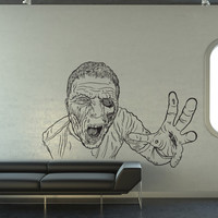 Vinyl Wall Decal Sticker Attacking Zombie #1301