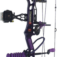 2015 PSE Premonition HD Stiletto in Purple Finish, Ladies Compound Bow Target Package, Tuned and Ready to Shoot - Hunter's Friend