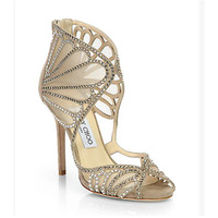Jimmy Choo Women Fashion Scalloped Heels Shoes Sandals