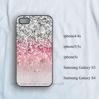Sparkle glow iPhone Case, iPhone 4/4s Case, iPhone 5/5s case,iPhone 5c case,charm case,samsung galaxy s3/s4,Beauty and the beast iPhone case