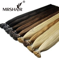 """MRSHAIR Pre Bonded Hair Extensions I Tip 1g/pc 16"""" 20"""" 24"""" Straight Keratin Human Hair On Capsule Real Hair Extensions 50pcs"""