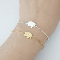 Pulseras Mujer Moda 2018 Stainless Steel Silver Gold Ketting Origami Elephant Bracelets For Women Bileklik Friendship Gift