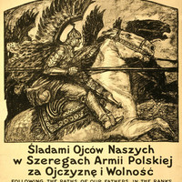 WWI Poster Following The Paths Of Our Fathers In The Ranks Of The Polish Army Fo