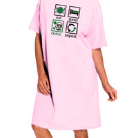Eat Sleep Drink Green Beer Repeat Adult Wear Around Night Shirt and Dress