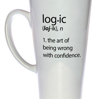 Logic Definition Coffee or Tea Mug, Latte Size