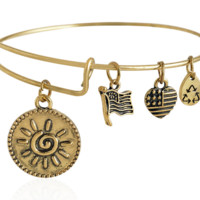 Alex and Ani sun pendant charm bracelet,a perfect gift !