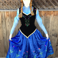 Anna Frozen Peasant Outfit Costume Couture Custom Made Cosplay
