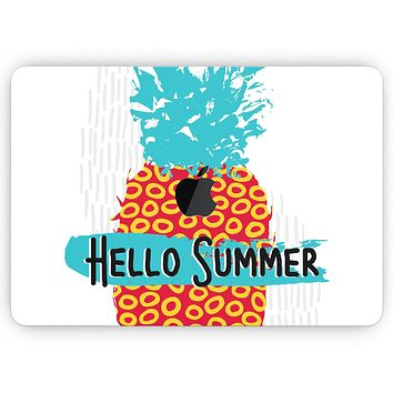"""Retro Hello Summer Pineapple v2 - Skin Decal Wrap Kit Compatible with the Apple MacBook Pro, Pro with Touch Bar or Air (11"""", 12"""", 13"""", 15"""" & 16"""" - All Versions Available)"""