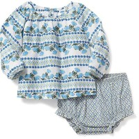 2-Piece Printed Top & Bloomer Set for Baby | Old Navy