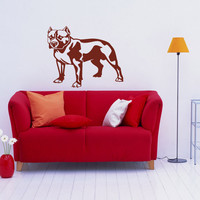 Pitbull Breed Decal Pet Animal Family Wall Decal Brit Sticker Dog Puppy 10542