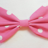 Hot Pink Hair Bow Hot Pink Bow Hot Pink Clip Big Bows Fabric Bow for kids bows for women hairbow hairbows retro hair clips lolita hair clips