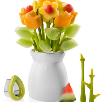 Fruit of the Bloom Flower Pot Fruit Vase