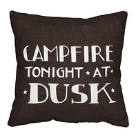 Campfire Tonight At Dusk - Cabin Lake Country Throw Pillow - 10-in x 10-in