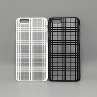 Thin Matte Grid Steak Case Luxury Plastic Hard Back Protective Shell Cover for iP