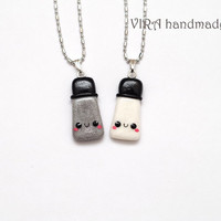 Kawaii Salt and Pepper Best Friends Necklaces