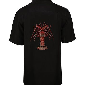 Men's Lobster Embroidered Fishing Shirt