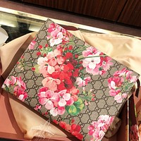 GG fashion casual ladies double G printed safflower makeup bag