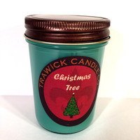 Soy Natural Wood Wick Scented Candle Christmas Tree