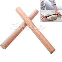 F85 New Wood Wooden Rolling Pin Fondant Cake Decorating Dough Rollers Baking Tools