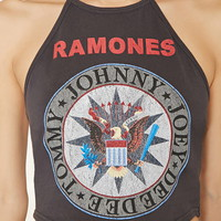 Ramones Graphic Halter Top | Forever 21 - 2000177802
