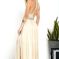 Resort Life Cream Lace Maxi Dress