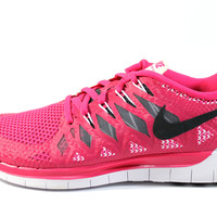 Nike Women's Free 5.0 2014 Vivid Pink/Gray Running Shoes 642199 602