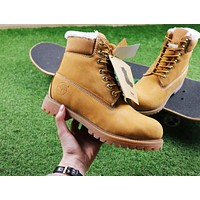 Timberland Wool Waterproof Soft Toe Boots Wheat Color