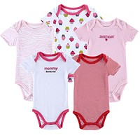 5 pcs Baby Bodysuit 100% Cotton Toddler Jumpsuit Spring Baby Girls Boys born Baby Overall Clothes