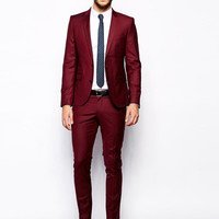 New Arrival new design custom slim fit red formal prom men tuxedos notched lapel men blazers two-button groomsmen wedding suits