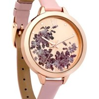 Shell Pink Floral Edge Watch