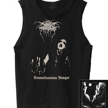 Darkthrone - Transylvania  men's raw edge muscle shirt