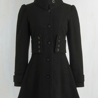 French Long Long Sleeve The Importance of Being Onyx Coat