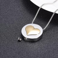 Love Heart Cremation Jewelry Memorial Urn Stainless Steel Necklace for Ashes Cremation Urns Funeral Keepsake Pendant for Women
