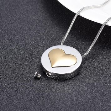 Classic Metal Cremation Chain Necklace Ash Holder Keepsake Love Pill Pendant Necklaces Charm Jewelry for Women Men