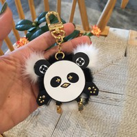 Louis Vuitton Lv Wild Fur Panda Bag Charm And Key Holder In Women's Accessories - Best Online Sale