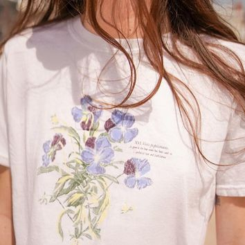 Project Social T Blue Violet Crew Neck Tee   Urban Outfitters
