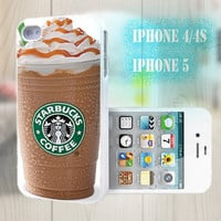 unique iphone case, i phone 4 4s 5 case,cool cute iphone4 iphone4s 5 case,stylish plastic rubber cases cover, funny starbuck coffee   p1015