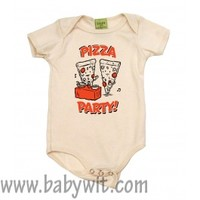 Pizza Party Organic Natural Baby One Piece